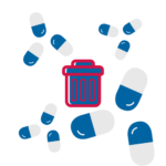 We provide free medication returns for outdated medications that are disposed of properly. We can also arrange home pick up of expired medications that need disposal.